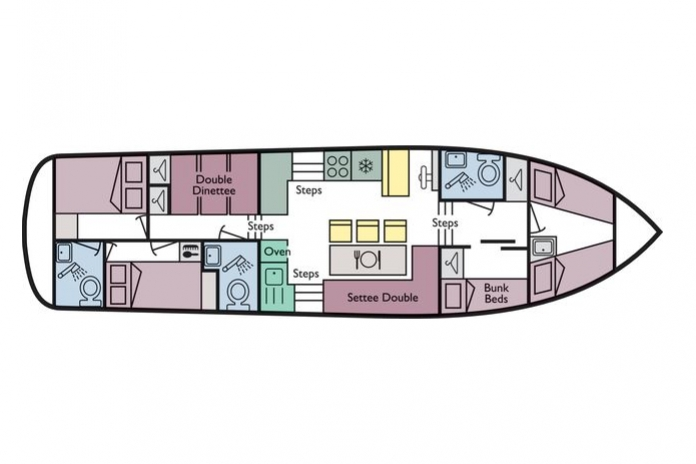 Acapulco richardson 39 s boating holidays for Boat house floor plans