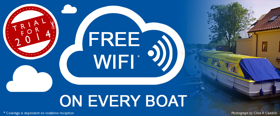New for 2014, Free Wifi on Every Boat