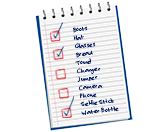 Notepad - What to bring on your boating holiday