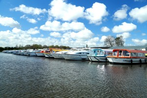 Row of boats at richardson's boat yard stalham