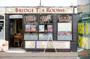 The main shopping centre in Hoveton/Wroxham. Bridge Tea Rooms. Picture: James Bass