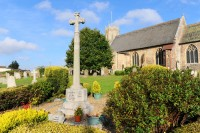 Look out for the war memorial next to the church when visiting Acle. Picture: James Bass