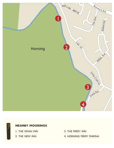 Map of horning - perfect for visiting Horning!