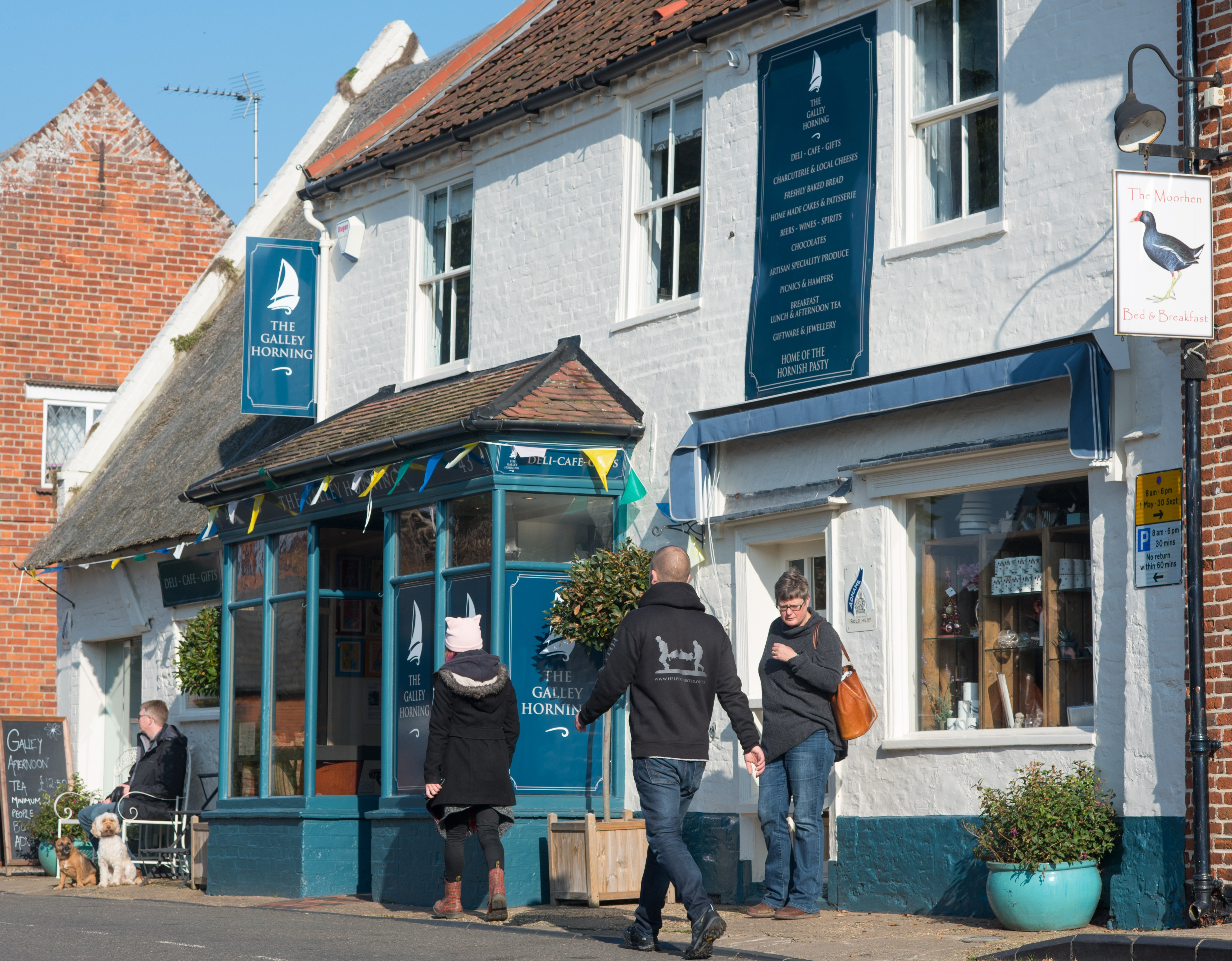 The Galley in Horning is a lovely place for a spot of lunch when considering cafes in the Broads National Park and the surrounding area.