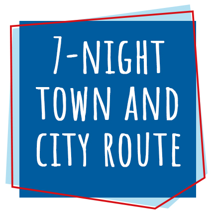 7-Night Town and City Route