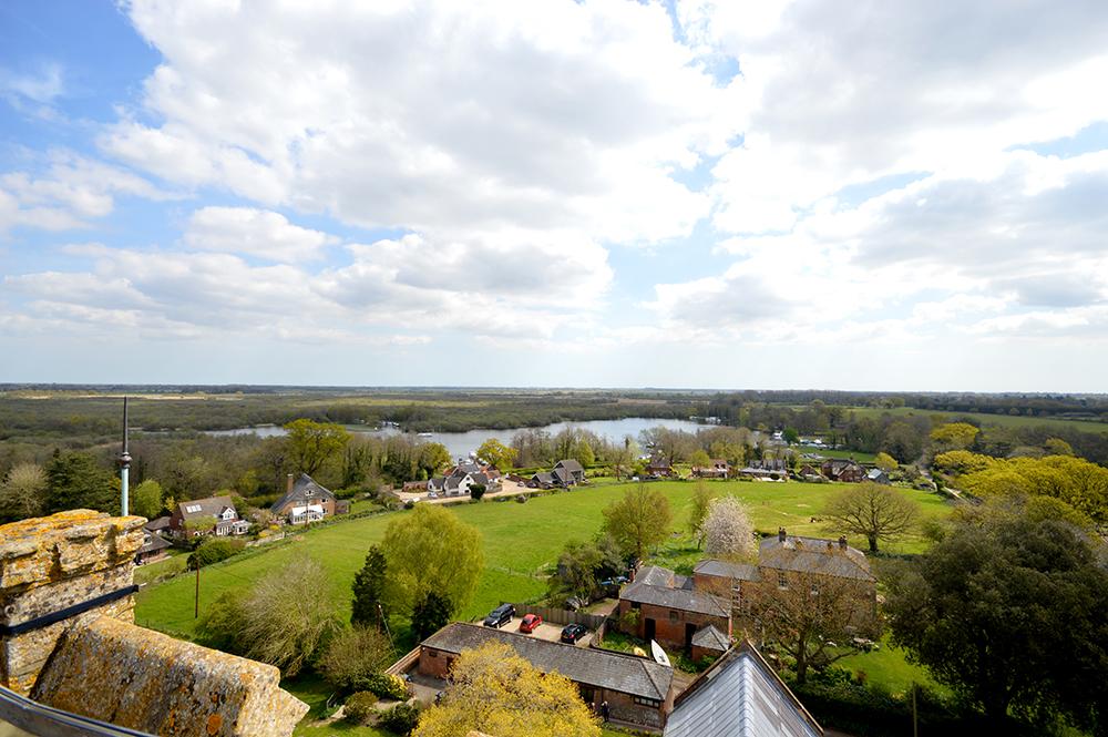 Facts About the Broads: the view from St Helens in Ranworth, the Cathedral of the Broads