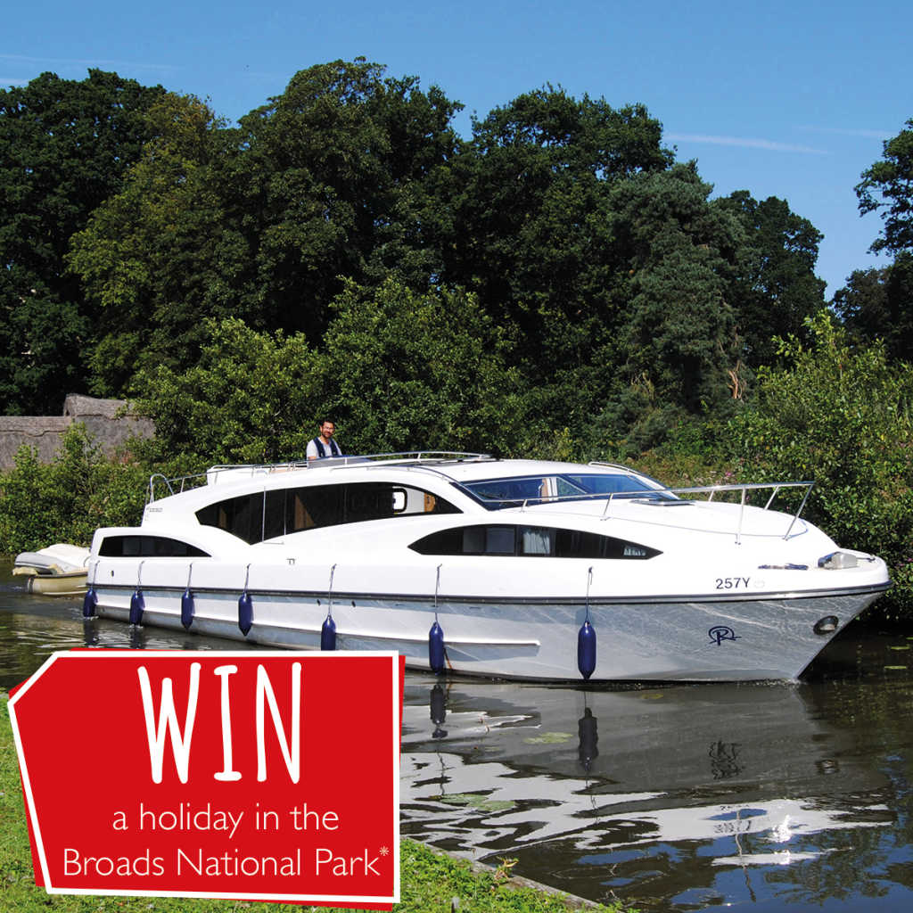 WIN a holiday in the Broads National Park with Richardson's Boating Holidays!*